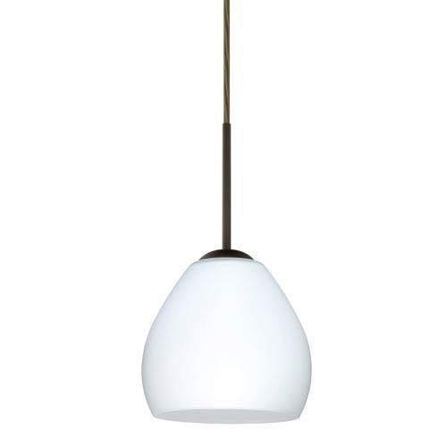 Bolla Bronze One-Light LED Mini Pendant with Opal Matte Glass