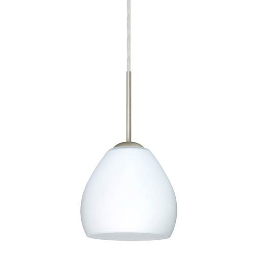 Bolla Satin Nickel One-Light LED Mini Pendant with Opal Matte Glass