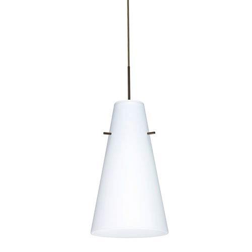Cierro Bronze One-Light LED Mini Pendant with Opal Matte Glass