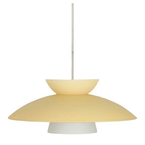 Trilo 15 Satin Nickel One-Light LED Pendant with Champagne Glass