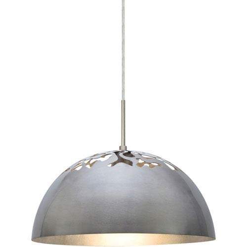 Gordy Satin Nickel One-Light LED Mini Pendant with Silver Reflector Shade