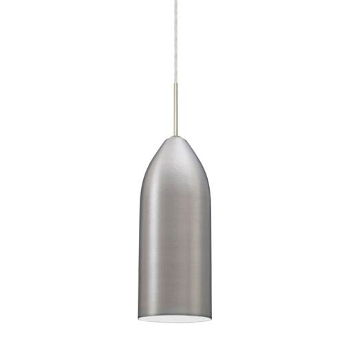 Lindy Satin Nickel One-Light LED Mini Pendant with White Glass