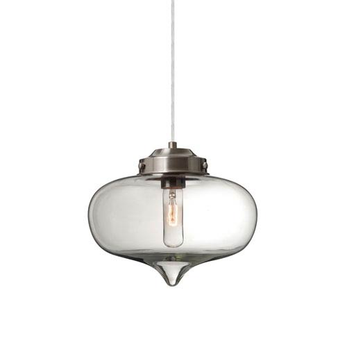 Mira Satin Nickel One-Light Pendant with Clear Glass