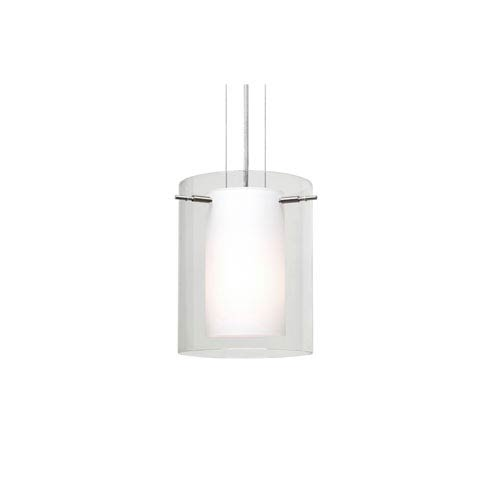 Pahu 8 Satin Nickel One-Light LED Mini Pendant with Clear Glass