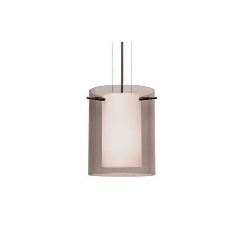 Metal cylinder pendant light fixture bellacor besa lighting pahu 8 bronze one light led mini pendant with transparent smoke glass aloadofball Images