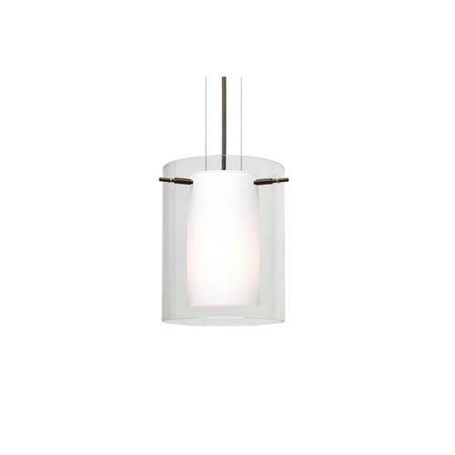 Pahu 8 Bronze One-Light LED Mini Pendant with Clear Glass