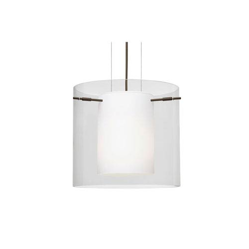 Pahu 12 Bronze One-Light LED Pendant with Clear Glass