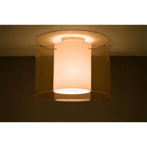 Pahu 16 Satin Nickel One-Light LED Semi Flush with Transparent Armagnac Glass