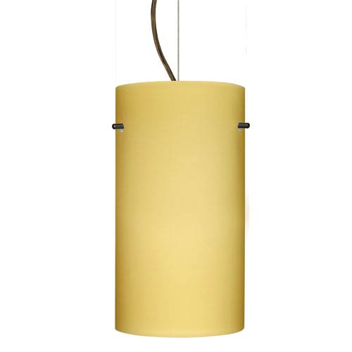 Tondo 12 Bronze One-Light LED Mini Pendant with Vanilla Matte Glass