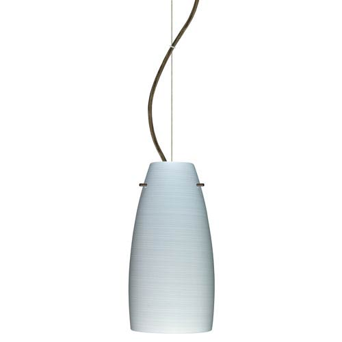 Besa Lighting Tao 10 Bronze One Light Led Mini Pendant With Chalk Glass Dome Canopy 1kx 1512kr Led Br Bellacor