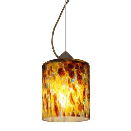 Falla 6 Bronze One-Light Mini Pendant with Quartz Glass, Dome Canopy