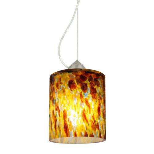 Falla 6 Satin Nickel One-Light Mini Pendant with Quartz Glass, Dome Canopy