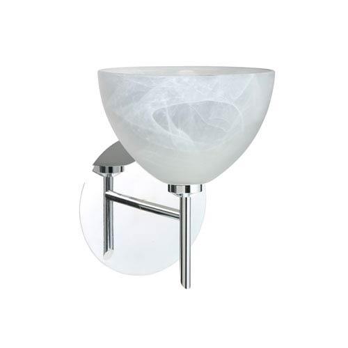 Brella Chrome One-Light LED Bath Sconce with Marble Glass