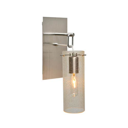 Besa lighting juni satin nickel one light wall sconce with gold besa lighting juni satin nickel one light wall sconce with gold bubble shade aloadofball Image collections