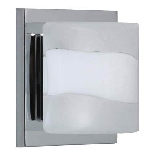 WS Opal Frost Chrome One-Light Bath Fixture