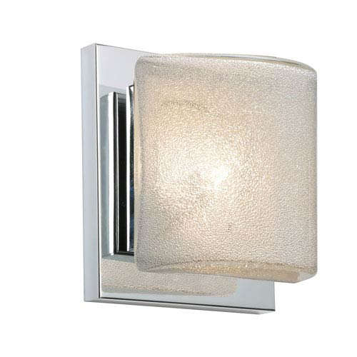 Paolo Chrome One-Light Bath Sconce with Glitter Glass