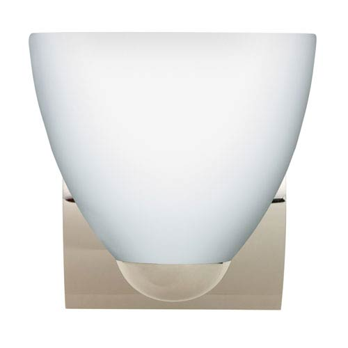 Besa Lighting Sasha Chrome One-Light Incandescent Wall Sconce with Opal Matte Glass