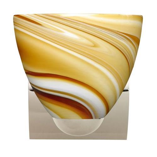 Sasha II Chrome One-Light LED Bath Sconce with Honey Glass