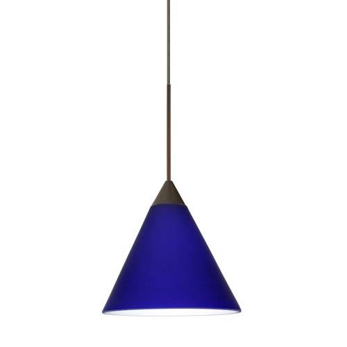 Kani Cobalt Blue Matte Bronze Mini Pendant