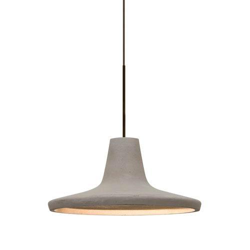 Modus Bronze One-Light Halogen Mini Pendant with Tan Shade