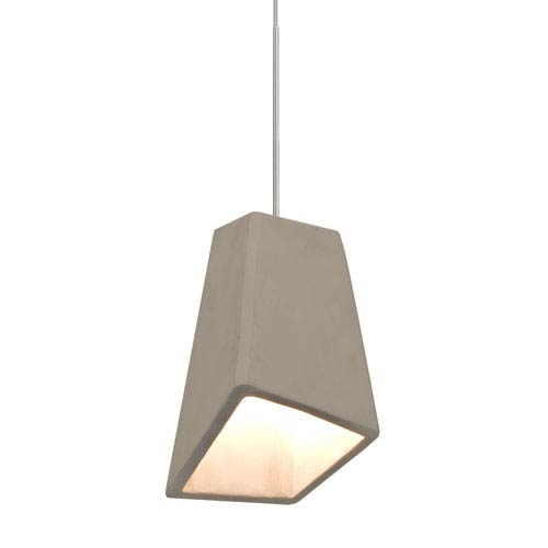 Skip Satin Nickel One-Light LED Mini Pendant with Tan Shade