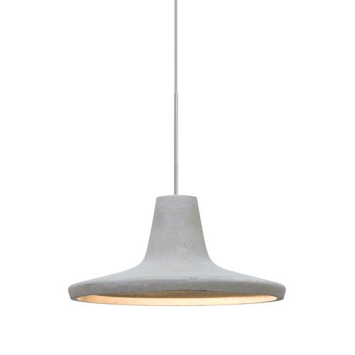 Modus Satin Nickel One-Light LED Mini Pendant with Natural Shade