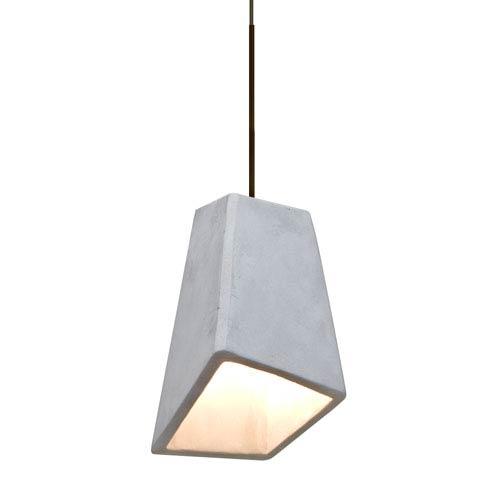 Skip Bronze One-Light LED Mini Pendant with Natural Shade