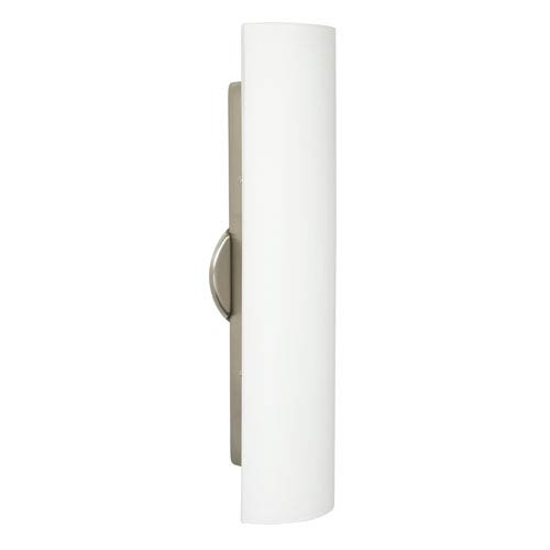 Besa Lighting Darci Satin Nickel Three-Light Incandescent Wall Sconce with Opal Matte Glass
