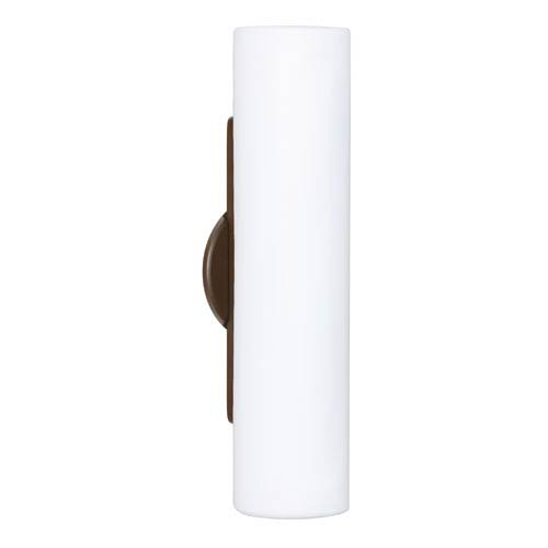 Baaz Bronze Two-Light Incandescent Wall Sconce with Opal Matte Glass