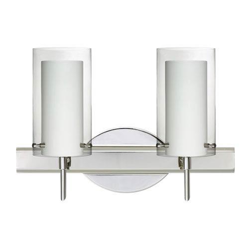 Pahu 4 Chrome Two-Light LED Bath Vanity with Clear Glass
