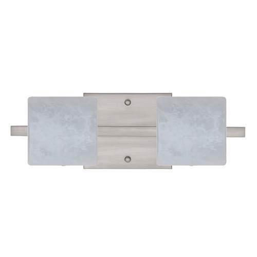 Besa Lighting WS Carrera Nickel Two-Light Bath Fixture