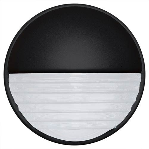 Costaluz 3019 Series Aluminum One-Light Incandescent Wall Sconce with Black Glass