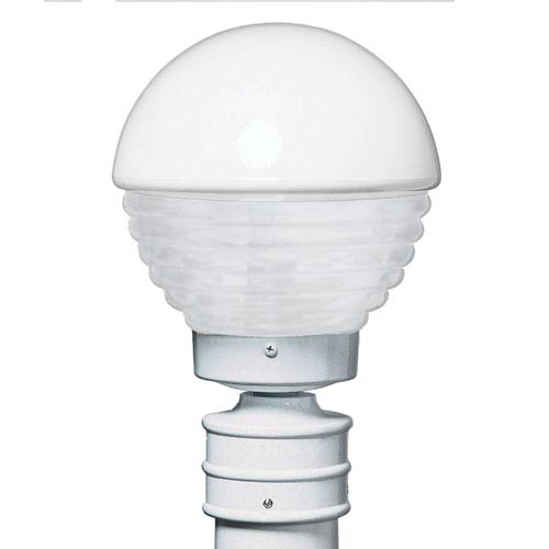 Costaluz 3061 Series Aluminum Incandescent Outdoor Post Light with White Glass