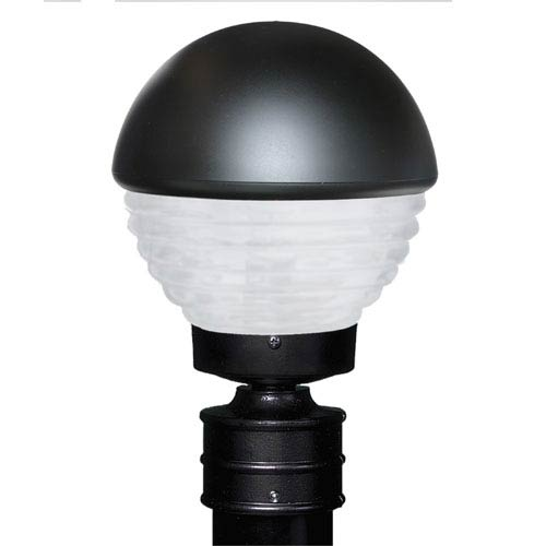 Besa Lighting Costaluz 3061 Series Aluminum Incandescent Outdoor Post Light with Black Glass