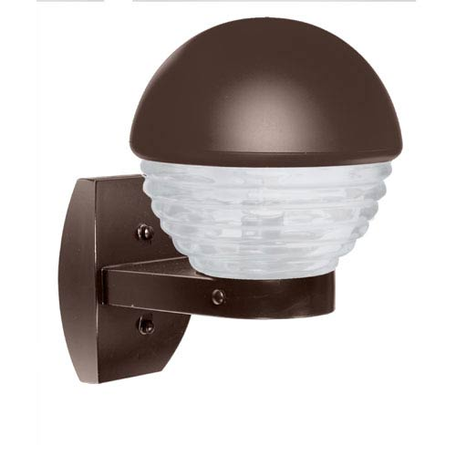 Besa Lighting Costaluz 3061 Series Aluminum One-Light Incandescent Wall Sconce with Bronze Glass