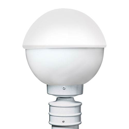 Costaluz 3078 Series Aluminum Incandescent Outdoor Post Light with White Glass