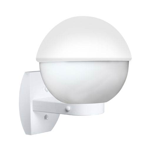 Costaluz 3078 Series Aluminum One-Light Incandescent Wall Sconce with White Glass