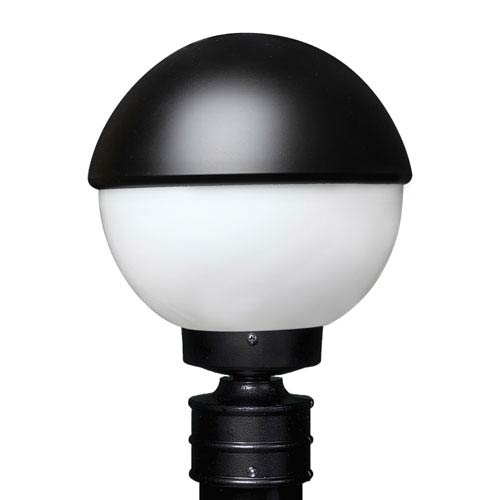 Costaluz 3078 Series Aluminum Incandescent Outdoor Post Light with Black Glass
