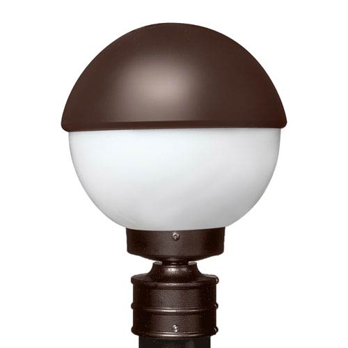 Costaluz 3078 Series Aluminum Incandescent Outdoor Post Light with Bronze Glass