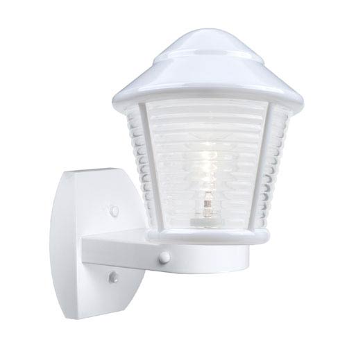 Besa Lighting Costaluz 3100 Series Aluminum One-Light Incandescent Wall Sconce with White Glass