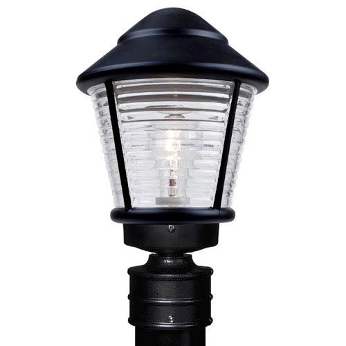 Costaluz 3100 Series Aluminum Incandescent Outdoor Post Light with Black Glass