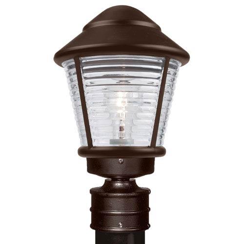 Besa Lighting Costaluz 3100 Series Aluminum Incandescent Outdoor Post Light with Bronze Glass