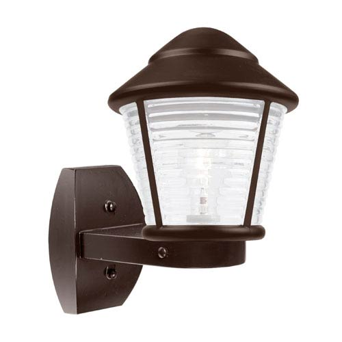 Besa Lighting Costaluz 3100 Series Aluminum One-Light Incandescent Wall Sconce with Bronze Glass