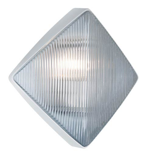 Besa Lighting Costaluz 3110 Series Aluminum One-Light Incandescent Wall Sconce with White Glass