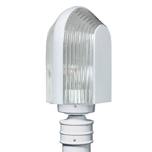 Besa Lighting Costaluz 3139 Series Aluminum Incandescent Outdoor Post Light with White Glass