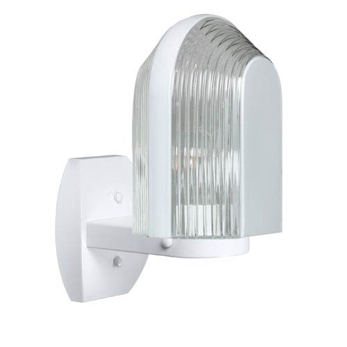 Besa Lighting Costaluz 3139 Series Aluminum One-Light Incandescent Wall Sconce with White Glass