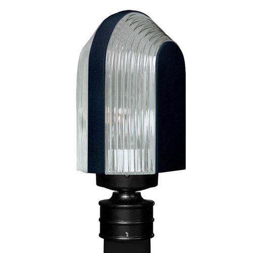 Costaluz 3139 Series Aluminum Incandescent Outdoor Post Light with Black Glass