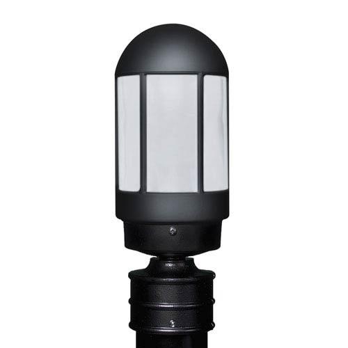 Costaluz 3151 Series Aluminum Incandescent Outdoor Post Light with Black Glass
