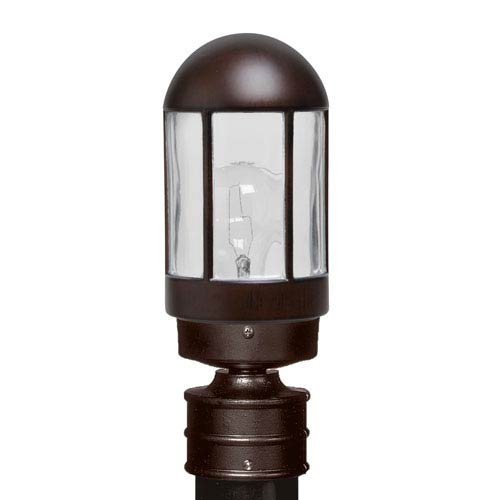 Besa Lighting Costaluz 3151 Series Aluminum Incandescent Outdoor Post Light with Bronze Glass