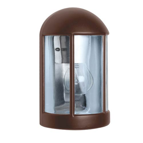 Besa Lighting Costaluz 3152 Series Aluminum One-Light Incandescent Wall Sconce with Bronze Glass